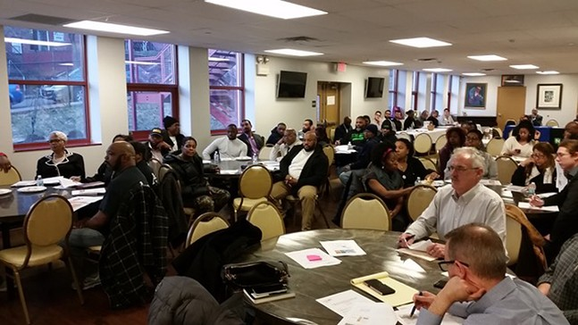 A Hill Community Development Corporation meeting - PHOTO: COURTESY OF THE HILL CDC