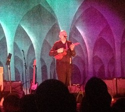 Billy Corgan on ukulele at Carnegie of Homestead Music Hall - PHOTO BY DAVE ROSENTRAUS
