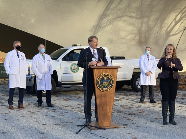 Rich Fitzgerald at a press conference in Point State Park on Thu., Nov. 12, 2020 - CP PHOTO: NARDOS HAILE