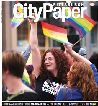 City Paper's 2014 cover when same-sex marriage was legalized in Pennsylvania. - PHOTO BY HEATHER MULL