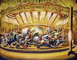 """Merry-Go-Round"" (1939-40), by Philip Pearlstein - IMAGE COURTESY OF BETTY CUNNINGHAM GALLERY"
