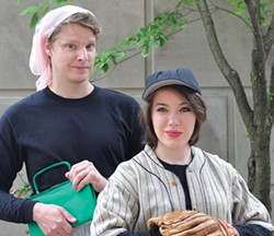 Benjamin Robinson and Rachel Eve Holmes star in SummerFest's Damn Yankees. - PHOTO COURTESY OF CATHERINE ACETO