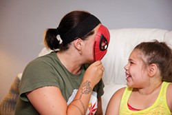 Since she began communicating with her family, Antania has expressed interest in Spider-Man - PHOTO BY HEATHER MULL