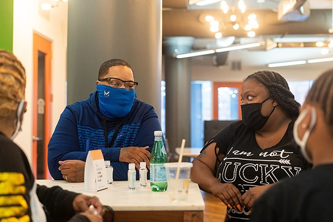"Members of Steel Smiling, which aims to ""bridge the gap between Black people and mental health support through education, advocacy, and awareness"" - CP PHOTO: LAKE LEWIS"
