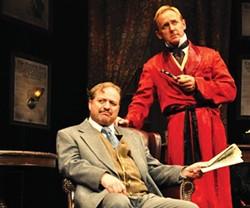 Simon Bradbury (left) and David Whalen in Sherlock's Last Case, at Kinetic Theatre - PHOTO COURTESY OF SUELLEN FITZSIMMONS