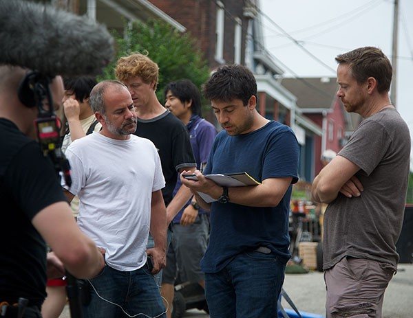 Director Alfonso Gomez-Rejon (center, with notebook) on the set of Me and Earl and the Dying Girl, shot last year in Pittsburgh