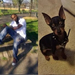 Andre Gray and his dog Boss - CROWDRISE.COM