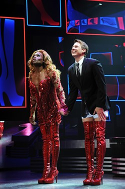 "Billy Porter (left) and Steven Booth take their bows last night for ""Kinky Boots"" - PHOTO COURTESY OF MATT POLK"