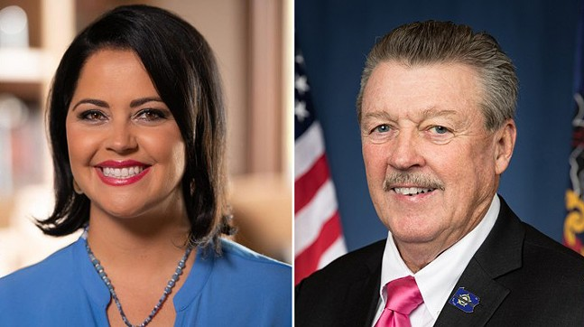 Nicole Ziccarelli and Jim Brewster - PHOTO: COURTESY THE CAMPAIGN/OFFICIAL STATE PHOTO