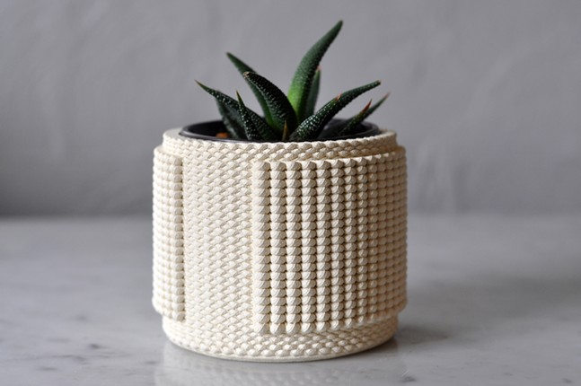 A 3D-printed planter from Coded Clay - PHOTO: BRIAN PETERS