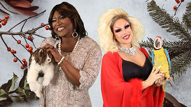 Monteze Freeland and Shua Potter in Claws Out: A Holiday Drag Musical - PHOTO: GREG MESSMER/SHUA POTTER