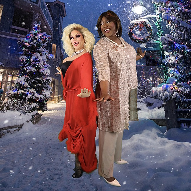 Shua Potter and Monteze Freeland in Claws Out: A Holiday Drag Musical - PHOTO: GREG MESSMER/SHUA POTTER