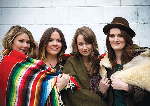 Della Mae as a four-piece (Celia Woodsmith, left) - PHOTO COURTESY OF CRACKERFARM