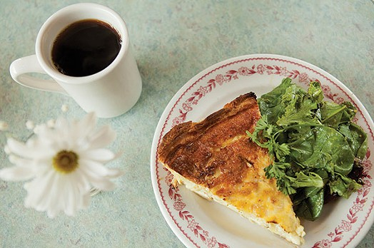 Quiche de chêvre - PHOTO BY HEATHER MULL