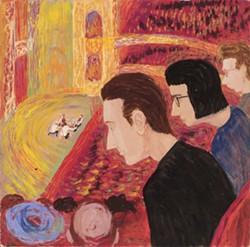 """Philip Pearlstein's """"String Quartet"""" (c. 1948-49)"""