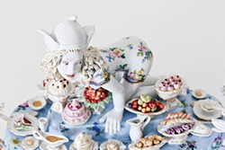 """""""Covet"""" (detail) from Forbidden Fruit: Chris Antemann® at Meissen, Oct. 3 at The Frick Art & Historical Center - PHOTO COURTESY OF ©CHRIS ANTEMANN AND MEISSEN COUTURE®"""