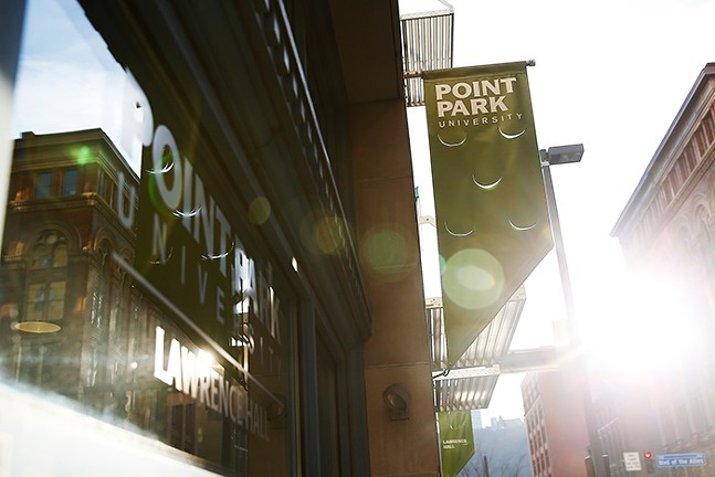 Point Park University in Downtown Pittsburgh - CP PHOTO: JARED WICKERHAM