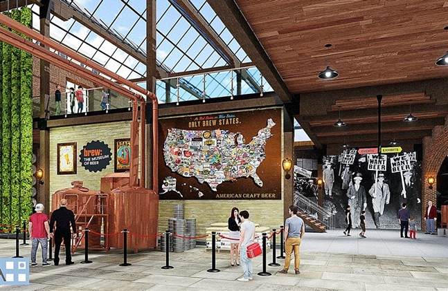 Early concept art for Brew: The Museum of Beer - DLA+ ARCHITECTURE & INTERIOR DESIGN