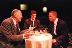 Left to right: Mark Yochum, Nathaniel Yost and Curt Wootton in Death of a Salesman, at Duquesne Red Masquers. - PHOTO COURTESY OF DUQUESNE UNIVERSITY