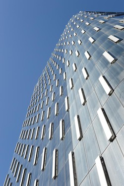 The exterior of the Tower at PNC Plaza, with its automatic exterior windows opened. - PHOTO COURTESY OF PNC