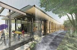 Artist rendering of the planned rain veil at the new Frick Environmental Center - ILLUSTRATION BY BOHLIN CYWINSKI JACKSON