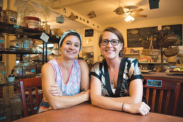 52nd Street Market co-owners Dora Walmsley (left) and Deirdre Kane - PHOTO BY THEO SCHWARZ
