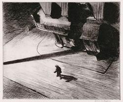 "Edward Hopper's etching ""Night Shadows"" (1921) - LEISSER ART FUND, COURTESY OF CARNEGIE MUSEUM OF ART"