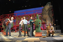 From left to right: Henry Ayres-Brown, Colin Whitney, Chris Garber, Ben Mathews and Josh Grosso in CMU Drama's Much Ado About Nothing - PHOTO COURTESY OF LOUIS STEIN