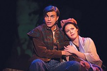 Ben Northrup and Maggie Roos in Into the Woods, at Point Park Conservatory