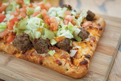 Bacon cheeseburger flatbread - PHOTO BY HEATHER MULL