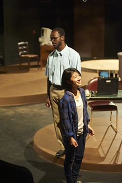 "Christopher Collier and Anna Chen in ""Water by the Spoonful"" - PHOTO COURTESY OF VINCENT NOE"