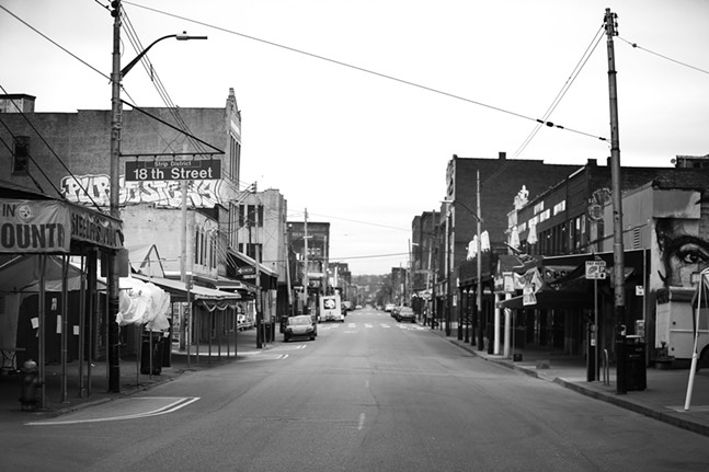The Strip District sits mostly empty in the morning hours on Sat., April 4, 2020. - CP PHOTO: JARED WICKERHAM