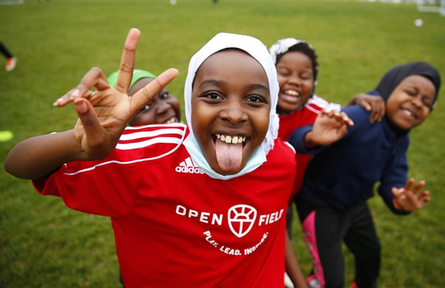 Open Field's initiative, Soccer for Social Impact, hosts their girls and boys games following eight weeks of programs for immigrants and refugee children on Oct. 28, 2020. - CP PHOTO: JARED WICKERHAM