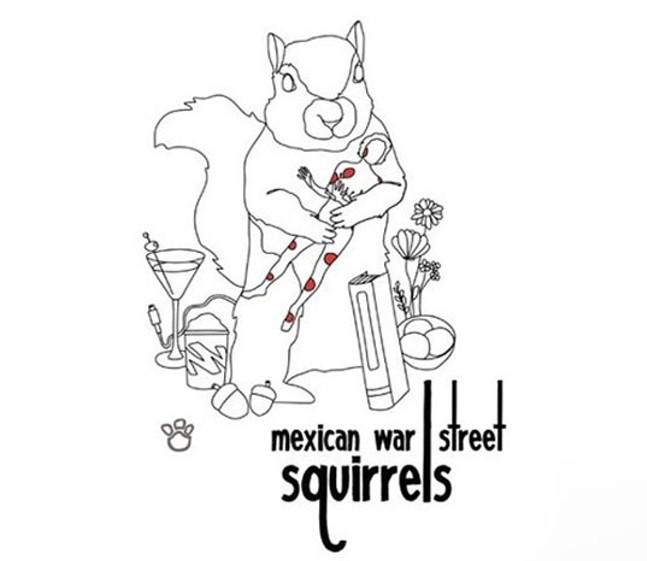 TripleAAAnimals Mexican War Street Squirrels by Jegan Mones - ARTWORK: JEGAN MONES