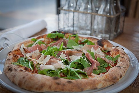 Mambo pizza with prosciutto di parma - PHOTOS BY HEATHER MULL