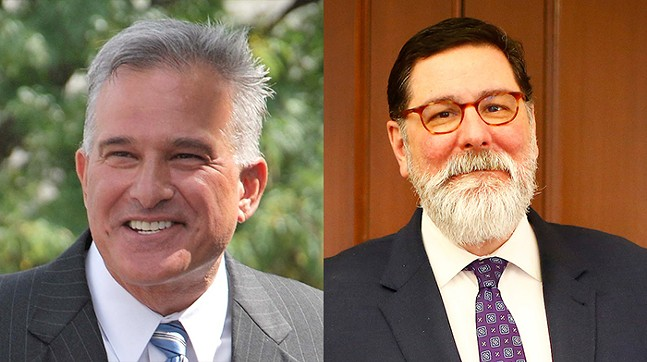 Stephen Zappala (left) and Bill Peduto (right)