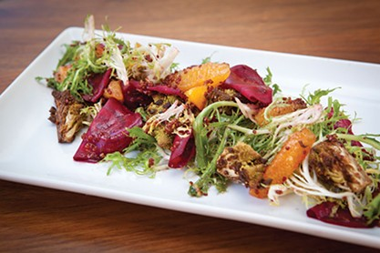 Salad with beets, escarole romanesco and oranges - PHOTO BY HEATHER MULL