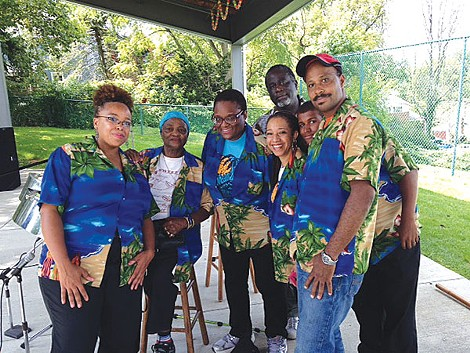 Verna Crichlow (seated) and her Caribbean Vibes Band - PHOTO COURTESY OF VERNA CRICHLOW