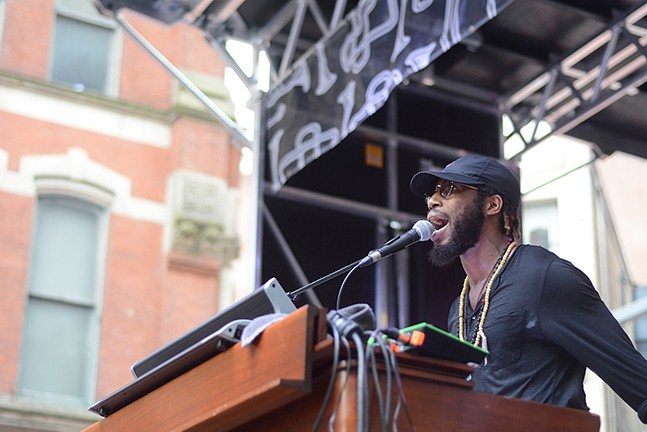Cory Henry & The Funk Apostles at the 2018 Pittsburgh International Jazz Festival - CP PHOTO: MIKE CANTON