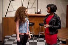 Angela D'Occhio (left) andTe'Era Coleman in Our Lady of 121st Street, at the Conservatory Theatre Company - PHOTO COURTESY OF JEFF SWENSEN
