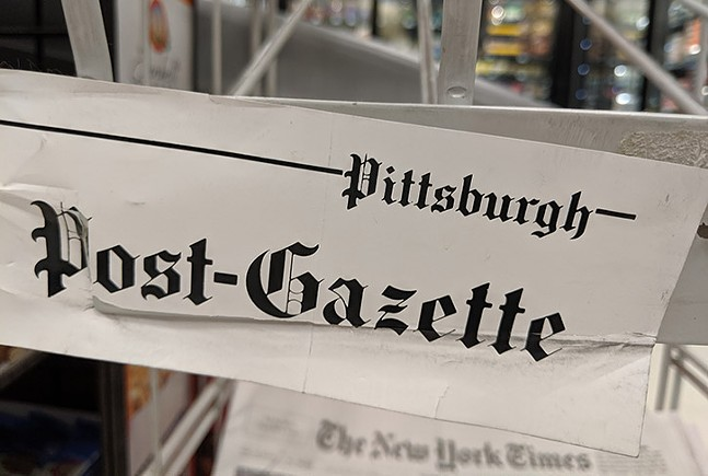 A Pittsburgh Post-Gazette news stand - CP PHOTO: LISA CUNNINGHAM