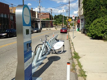 Healthy Ride stations like these are offering free rides from 7 a.m. to 7 p.m. - PHOTO BY RYAN DETO