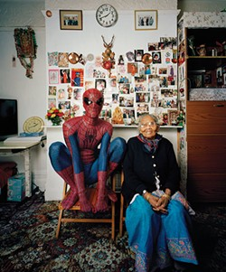 Hetain Patel, as Spider-Man, in the London home of his grandmother