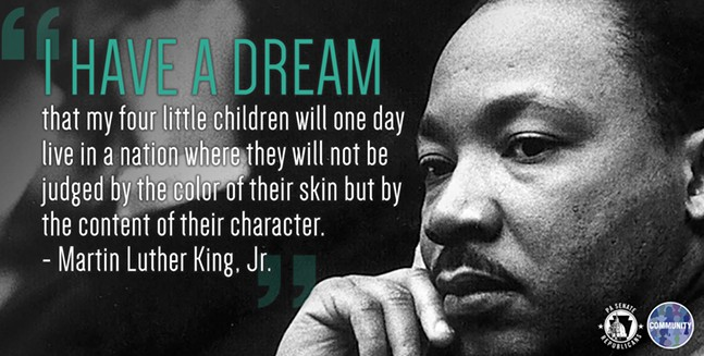 Image that several Pa. Republican state Senators used in tweets about Martin Luther King, Jr. Day