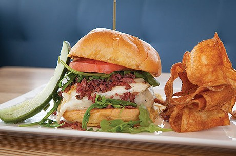 House-ground burger with gruyere cheese, egg and house-made pastrami - PHOTO BY HEATHER MULL