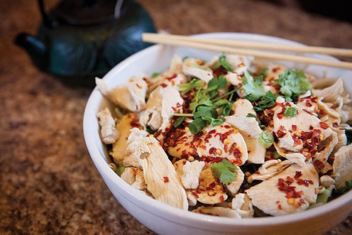 Spicy homemade noodles with chicken - PHOTO BY HEATHER MULL