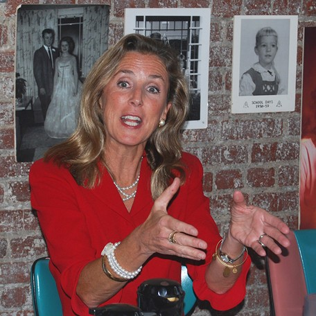 U.S. Senate candidate Katie McGinty at a campaign stop in Pittsburgh Thursday. - PHOTO BY RYAN DETO
