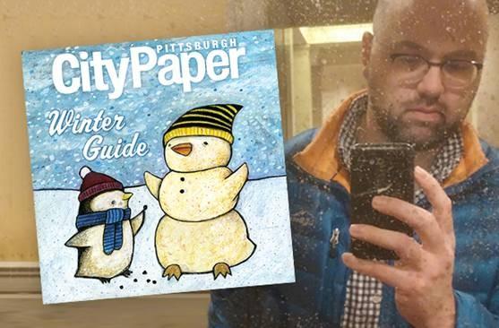Jeff Brunner with his Winter Guide cover art - SELF PORTRAIT COURTESY OF JEFF BRUNNER