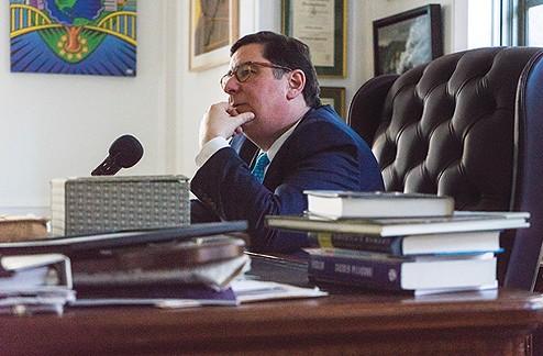 Mayor Bill Peduto in his office - PHOTO BY AARON WARNICK