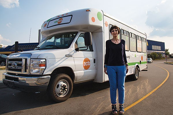 Lynn Manion with the ACTA shuttle outside IKEA this past summer. - CP FILE PHOTO
